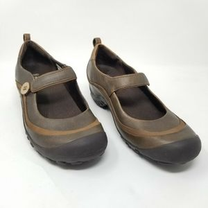 Merrell Plaza Emme Mary Janes Brown Leather